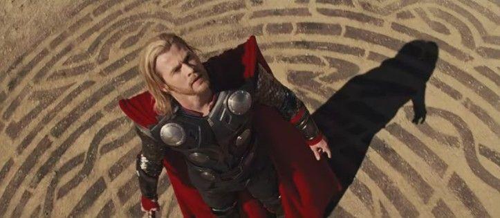 Plano picado Thor